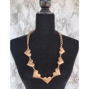 Bronze Heart Chain Necklace